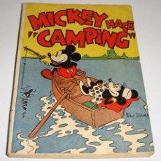 Tebeos: MICKEY HACE CAMPING. EDITORIAL MOLINO. 1ª EDICION DICIEMBRE 1934. MUY BUENA CONSERVACIÓN. Lote 72067159