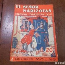 Tebeos: EL SEÑOR NARIZOTAS. COLECCIÓN MARUJITA Nº63. Lote 84161970