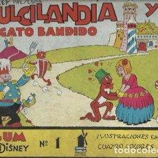 Tebeos: DULCILANDIA Y EL GATO BANDIDO, 1936, USADO. Lote 87601080