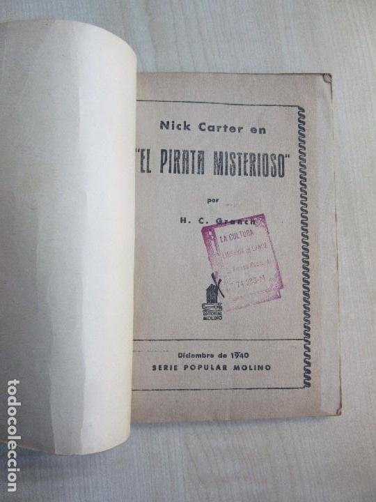 Tebeos: Nick Carter en El pirata misterioso 1940 Serie Popular Molino - Foto 2 - 98214071