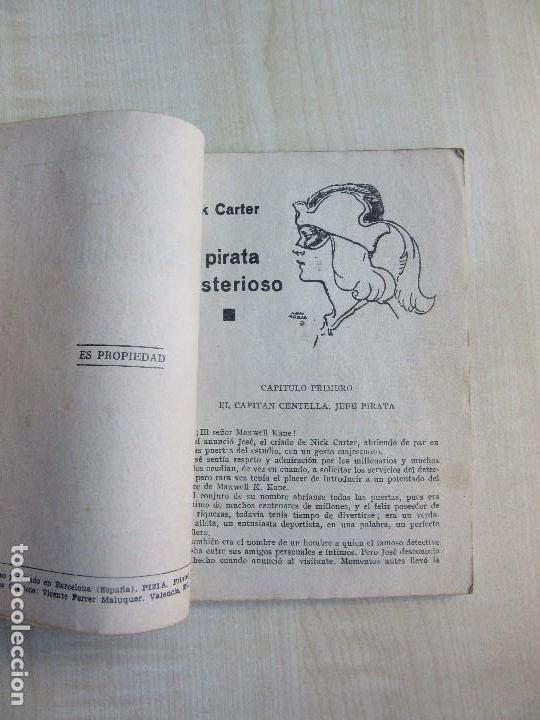 Tebeos: Nick Carter en El pirata misterioso 1940 Serie Popular Molino - Foto 3 - 98214071