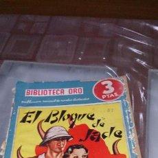 Tebeos: EL BLOQUE DE JADE POR EDISON MARSHALL BIBLIOTECA DE ORO EDITORIAL MOLINO 1939. Lote 103606959