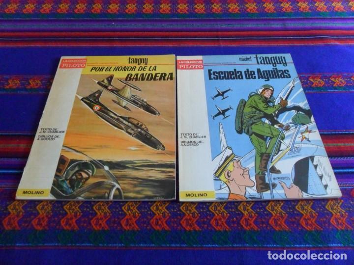 MUY BUEN ESTADO. PILOTO MOLINO. MICHEL TANGUY ESCUELA DE ÁGUILAS Y POR EL HONOR DE LA BANDERA. 1965. (Tebeos y Comics - Molino)