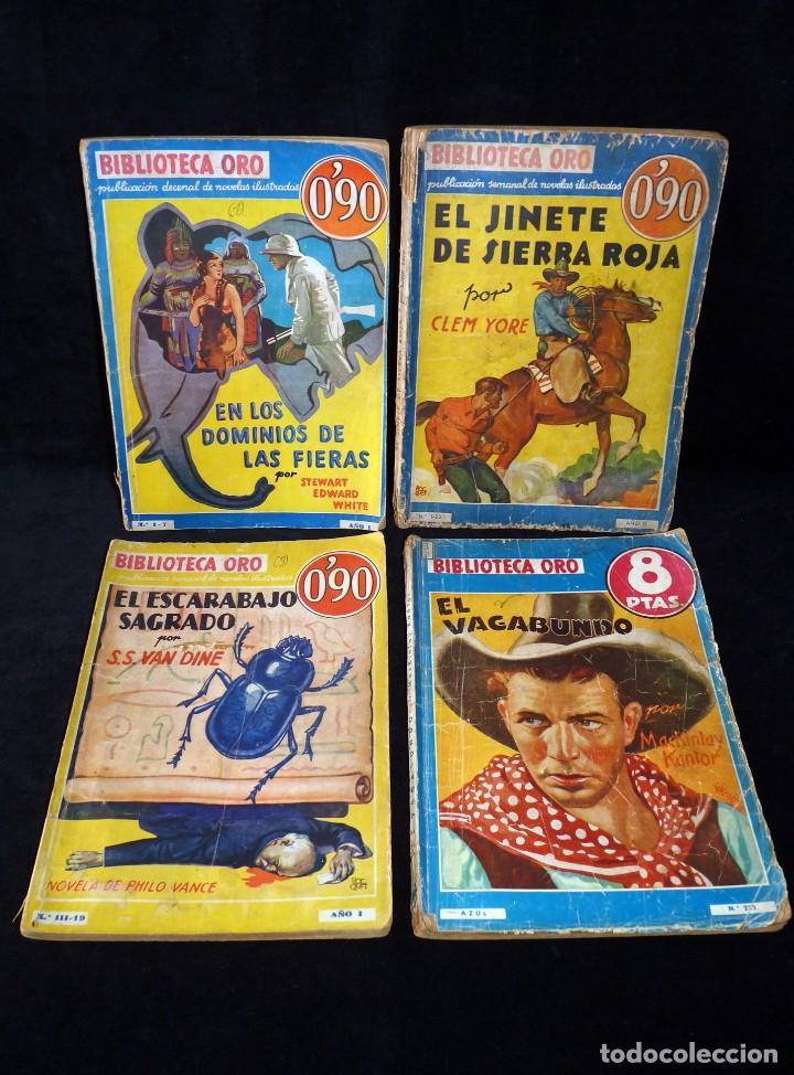 LOTE DE 4 NOVELAS COLECCIÓN BIBLIOTECA ORO EDITORIAL MOLINO, AÑO 1934-48 (Tebeos y Comics - Molino)