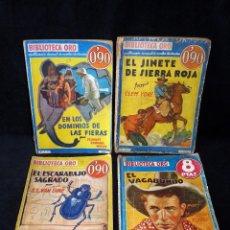 Tebeos: LOTE DE 4 NOVELAS COLECCIÓN BIBLIOTECA ORO EDITORIAL MOLINO, AÑO 1934-48. Lote 108689851