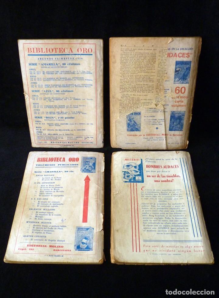 Tebeos: LOTE DE 4 NOVELAS COLECCIÓN BIBLIOTECA ORO EDITORIAL MOLINO, AÑO 1934-48 - Foto 2 - 108689851
