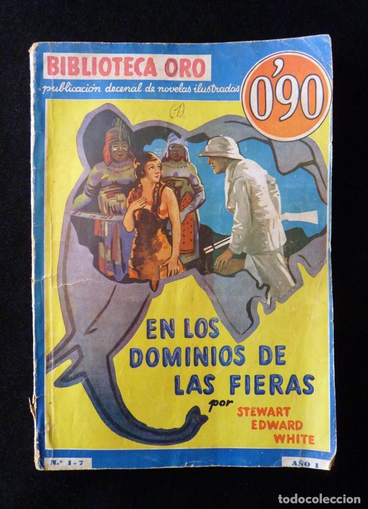 Tebeos: LOTE DE 4 NOVELAS COLECCIÓN BIBLIOTECA ORO EDITORIAL MOLINO, AÑO 1934-48 - Foto 3 - 108689851