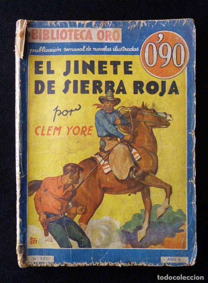 Tebeos: LOTE DE 4 NOVELAS COLECCIÓN BIBLIOTECA ORO EDITORIAL MOLINO, AÑO 1934-48 - Foto 4 - 108689851