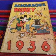 Tebeos: ALMANAQUE MICKEY 1936. MOLINO 1 PTA. WALT DISNEY. BUEN ESTADO.. Lote 111337739