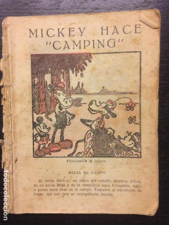 MICKEY HACE CAMPING, 1934 (Tebeos y Comics - Molino)