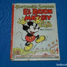 Tebeos: (M) MICKEY MOUSE - EL RATON MICKEY EN EL CIRCO , ILUSTRACIO SORPRESA , EDT MOLINO POP UP 1934. Lote 117152391