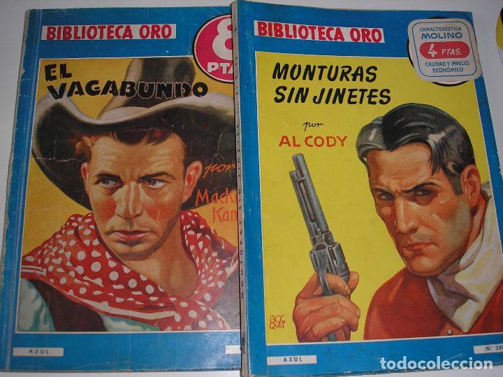 BIBLIOTECA ORO.- MONTURAS SIN JINETES Y EL VAGABUNDO, 1948 (Tebeos y Comics - Molino)