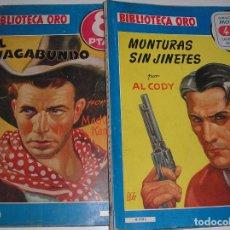 Tebeos: BIBLIOTECA ORO.- MONTURAS SIN JINETES Y EL VAGABUNDO, 1948. Lote 117373139