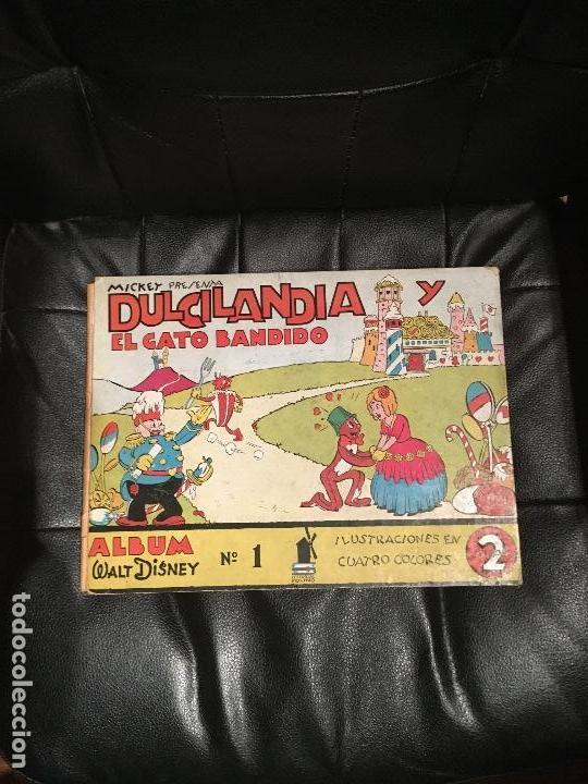 MICKEY PRESENTA DULCILANDIA Y EL GATO BANDIDO -ÁLBUM WALT DISNEY NÚMERO 1 - ED. MOLINO (Tebeos y Comics - Molino)