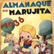 Tebeos: ALMANAQUE DE MARUJITA EDITORIAL MOLINO 1936. Lote 125019032