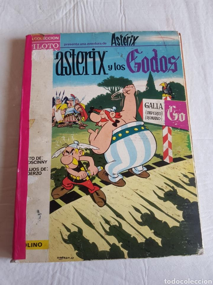 COMIC ASTERIX 1966 EDITORIAL MOLINO TAPAS DURAS Y LOS GODOS RARO (Tebeos y Comics - Molino)