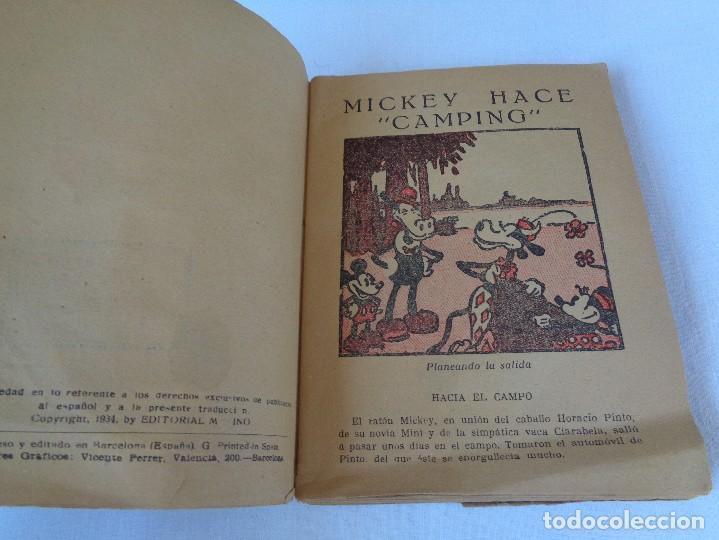 Tebeos: ANTIGUO CUENTO MICKEY HACE CAMPING, POR WALT DISNEY, ED. MOLINO, PRIMERA EDICION 1934, 160 PAGINAS - Foto 7 - 130053407