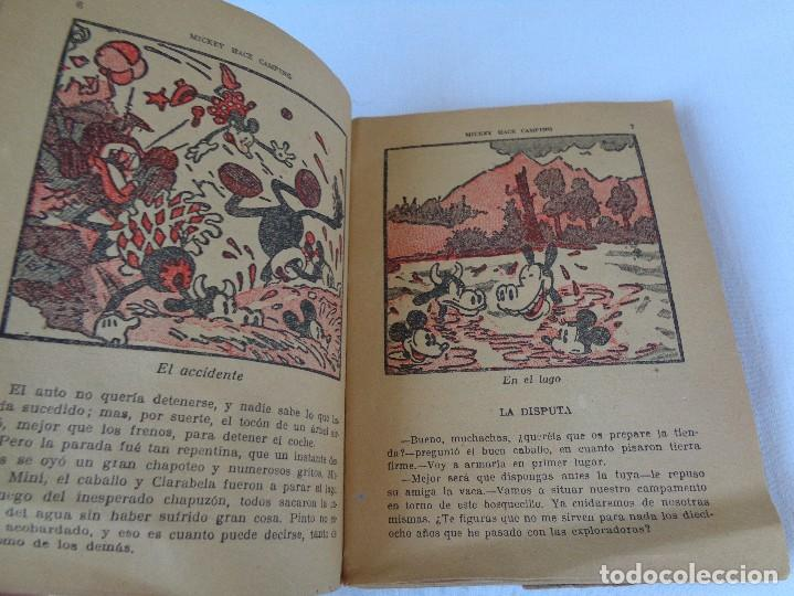 Tebeos: ANTIGUO CUENTO MICKEY HACE CAMPING, POR WALT DISNEY, ED. MOLINO, PRIMERA EDICION 1934, 160 PAGINAS - Foto 9 - 130053407