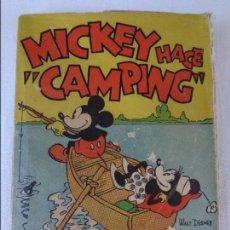 Tebeos: ANTIGUO CUENTO MICKEY HACE CAMPING, POR WALT DISNEY, ED. MOLINO, PRIMERA EDICION 1934, 160 PAGINAS. Lote 130053407