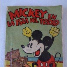 Tebeos: MICKEY EN LA ISLA DEL TESORO - EDITORIAL MOLINO - 1ª EDICION - 1934. Lote 130053851