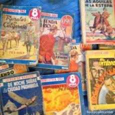 Tebeos: BIBLIOTECA ORO 7 NOVELAS VARIOS AUTORES. Lote 135694435