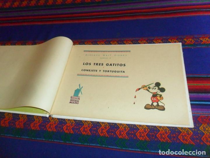 Tebeos: CON LOMO, LOS TRES GATITOS Y CONEJETE Y TORTUGUITA ÁLBUM WALT DISNEY Nº 2. MOLINO AÑOS 40 2 PTS. BE. - Foto 3 - 135708755