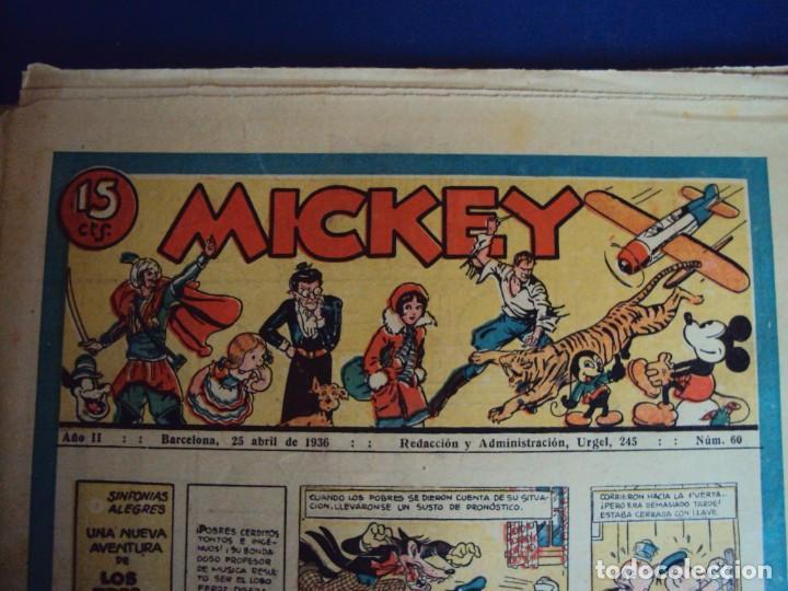 (COM-Nº60) AÑO II 25-4-1936 MICKEY (Tebeos y Comics - Molino)