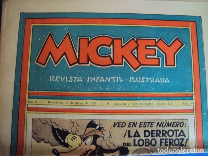 (COM-Nº63) MICKEY AÑO II 16-5-1936 (Tebeos y Comics - Molino)
