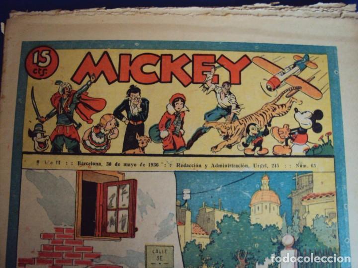 (COM-Nº65) MICKEY AÑO II 30-5-1936 (Tebeos y Comics - Molino)