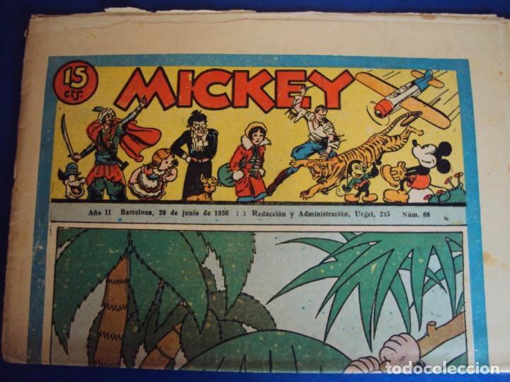 (COM-Nº68) MICKEY AÑO II 20-6-1936 (Tebeos y Comics - Molino)