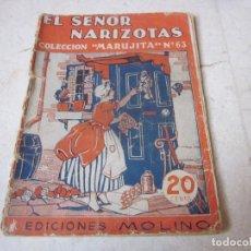 Tebeos: COLECCION MARUJITA Nº 63 - EL SEÑOR NARIZOTAS - MOLINO 1955. Lote 140344042