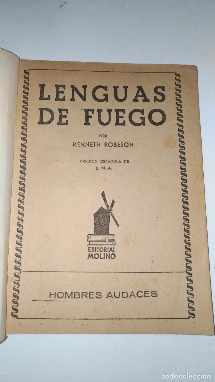Tebeos: El Vengador, Lenguas de Fuego. Kenneth Robeson. Colección Hombres Audaces. 1948 Barcelona. Molino. - Foto 5 - 145043674