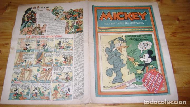 REVISTA MICKEY MOLINO AÑOS 30 NUMERO 64 CON PUBLICIDAD RARO SOFABIBLIO (Tebeos y Comics - Molino)