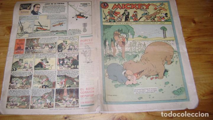 REVISTA MICKEY MOLINO AÑOS 30 NUMERO 67 VER DESCRIPCION SOFABIBLIO7 (Tebeos y Comics - Molino)