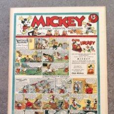 Tebeos: Nº 1 DE MICKEY (MOLINO, 1935) PERFECTO, SIN DOBLEZ. Lote 155482662