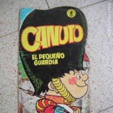 Tebeos: CUENTO TROQUELADO CANUTO EL PAQUEÑO GUARDIA MOLINO 1967. Lote 162312994