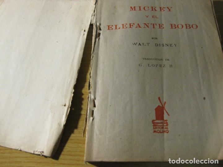 Tebeos: mickey y el elefante bobo . walt disney . ed molino 1936 desperfectos - Foto 2 - 163768914