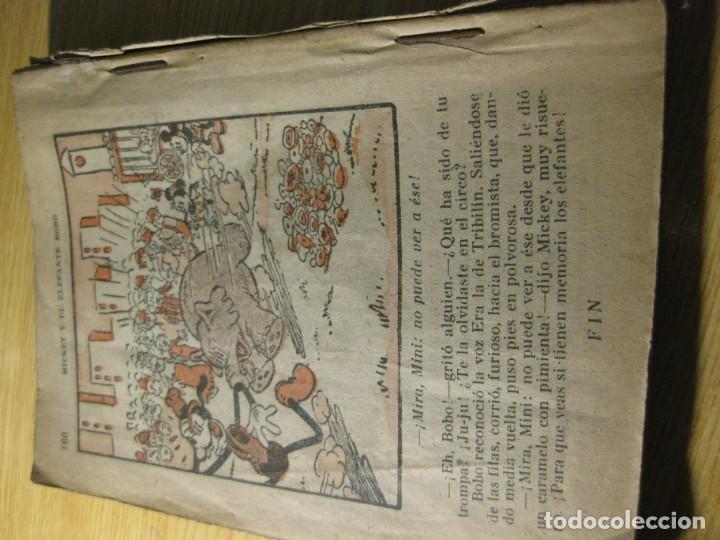 Tebeos: mickey y el elefante bobo . walt disney . ed molino 1936 desperfectos - Foto 8 - 163768914