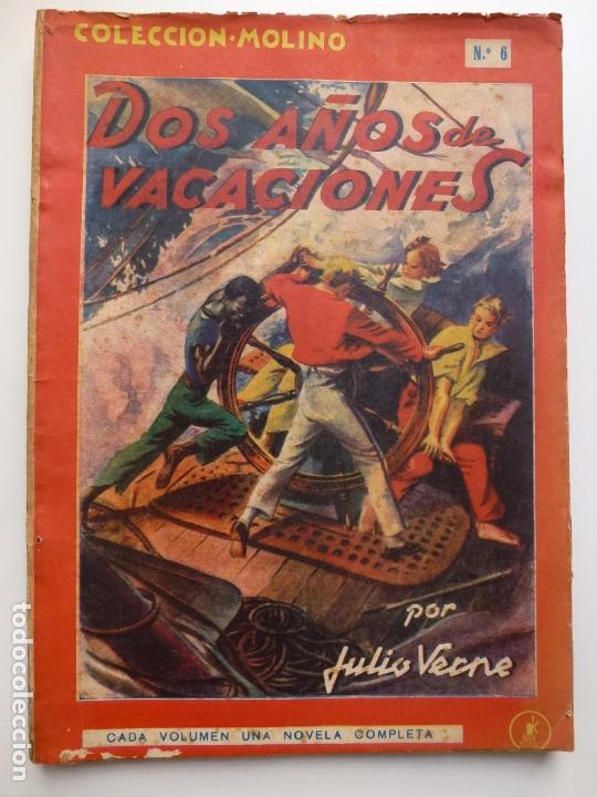 DOS AÑOS DE VACACIONES. JULIO VERNE. COLECCIÓN MOLINO Nº 6. (Tebeos y Comics - Molino)