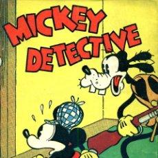 Tebeos: MICKEY DETECTIVE (MOLINO, 1934) DE WALT DISNEY. LIBRO RÚSTICA, 17X12,5 CMS. 160 PGS.. Lote 180599403