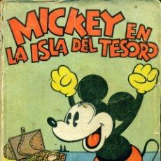 Tebeos: MICKEY EN LA ISLA DEL TESORO (MOLINO, 1934) DE WALT DISNEY. LIBRO RUSTICA, 17 X 12,5 CMS. 160 PGS.. Lote 180600843