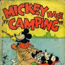 Tebeos: MICKEY HACE CAMPING (MOLINO, 1934) DE WALT DISNEY. LIBRO RUSTICA, 17X12,5 CMS. 160 PGS.. Lote 180601275