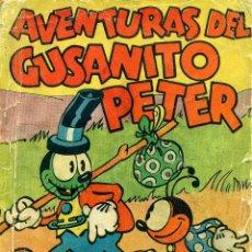 Tebeos: AVENTURAS DEL GUSANITO PETER (MOLINO, 1937) DE WALT DISNEY. LIBRO RUSTICA 17X12,5 CMS. 160 PGS.. Lote 180601766