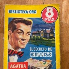 Tebeos: BIBLIOTECA ORO EL SECRETO CHIMNEYS NÚMERO 342 AGATHA CHRISTIE. Lote 187079216