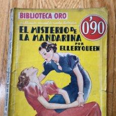 Tebeos: BIBLIOTECA ORO EL MISTERIO DE LA MANDARINA NÚMERO III-58 ELLERY QUEEN. Lote 187080350
