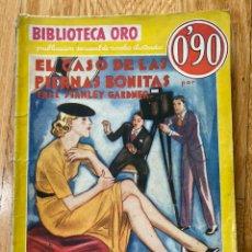 Tebeos: BIBLIOTECA ORO EL CASO DE LA PIERNAS BONITAS NÚMERO III-63 ERLE STANLEY GARDNER. Lote 187080432