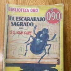 Tebeos: BIBLIOTECA ORO EL ESCARABAJO SAGRADO NÚMERO III-19 S S VAN DINE. Lote 187080591