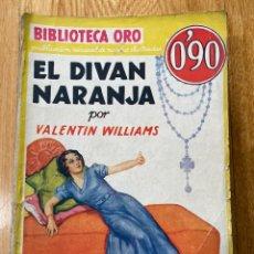 Tebeos: BIBLIOTECA ORO EL DIVÁN NARANJA NÚMERO III-20. Lote 187080631