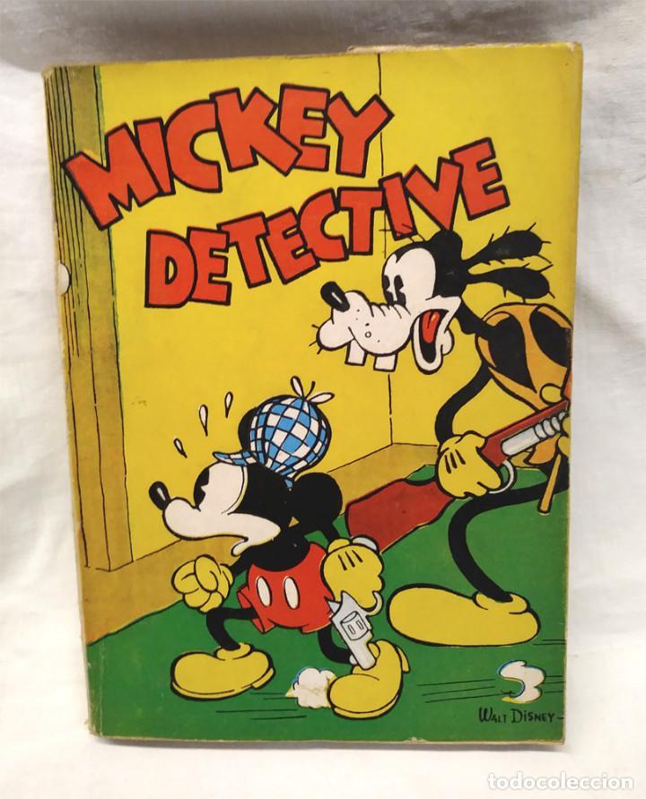 MICKEY DETECTIVE WALT DISNEY AÑO 1934. EDITORIAL MOLINO, TAPA RUSTICA 160 PAG. (Tebeos y Comics - Molino)