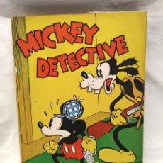 Tebeos: MICKEY DETECTIVE WALT DISNEY AÑO 1934. EDITORIAL MOLINO, TAPA RUSTICA 160 PAG.. Lote 193960978